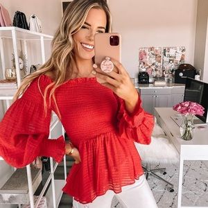 Better Than Imagined Blouse Red